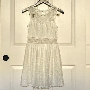 By And By White Lace Dress